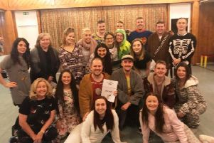 The cast of Believed to be Seen, the Children in Need Show 2019 from Wings Productions