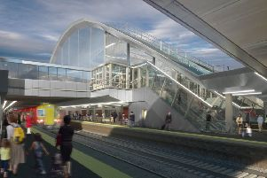 An artist's impression of the station upgrade plans