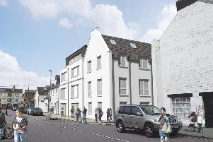 An artist's impression of the development in Montague Street