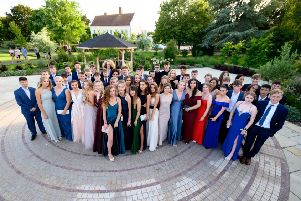 Year-11 students at Field Place for their prom