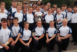 The Northbrook MET team of uniformed services students