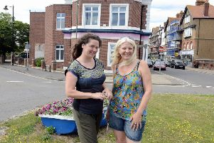 Felicity Jay, left, and Claire Jones, who run the community arts group CRE8, who want to create a community hub and arts cafe in the Tamarisk Centre. Picture: Kate Shemilt