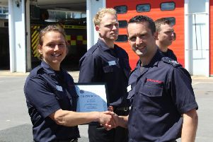Kerrie Sutton will be based at Lancing Fire Station