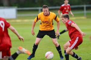 Action from Worthing's friendly at Littlehampton. Picture by Stephen Goodger