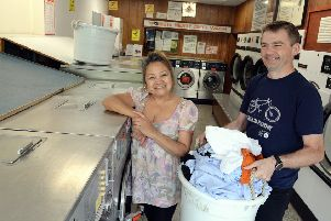 Laura Real has signed East Preston Launderette over to Adrian Clarke. Picture: Kate Shemilt ks190428-3