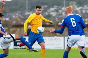 Lewis Finney hit a hat-trick against Horley Town