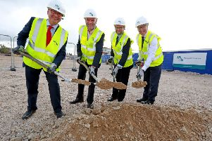 Ground breaking ceremony at Teville Gate House in Worthing. Picture: Southern News & Pictures.
