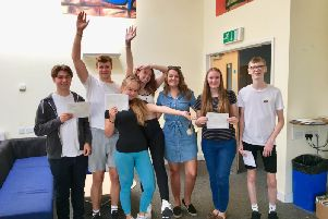 The Angmering School sixth form students have been celebrating their results