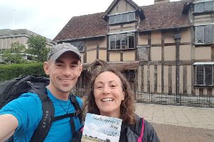 Rebecca Hope and Alastair Montague walked The Shakespeare's Way