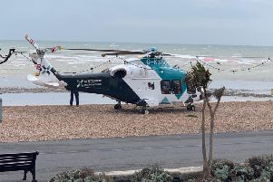 The air ambulance in Marine Parade