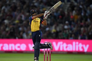Ravi Bopara strikes out in Vitality Blast action for Essex Eagles, who he helped become champions in 2019 / Picture: Getty Images
