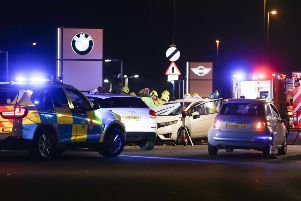 One person was trapped following a collision in Rustington