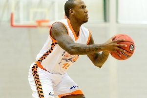 Alex Owumi scored 31 in the overtime victory. Picture courtesy of Worthing Thunder.
