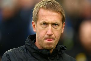 Brighton and Hove Albion head coach Graham Potter will be without striker Aaron Connolly for Saturday's Premier League match against Leicester