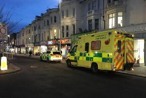 Several ambulance vehicles were called to the scene in Chapel Road, Worthing