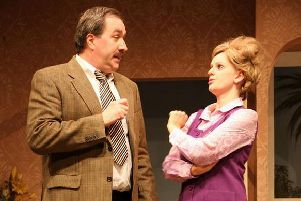 Paul Simmonds and Serena Bravery as Basil and Sybil. Picture by Joy Andrews