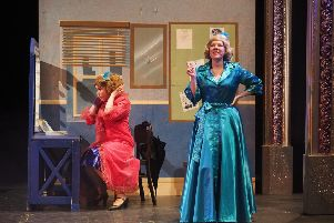 From left: Alicia Marson as Betty Haynes and  Rachel Farrant as her sister Judy