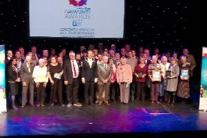 The Community Awards 2016 winners and sponsors gather on The Capitol Horsham stage