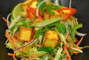 Spicy Vietnamese Style Salad with grilled Paneer