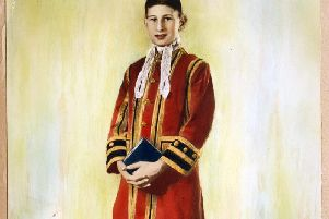 Young Colin in uniform