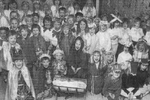 Christmas at Itchingfield Primary School in 1988