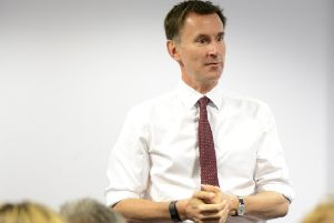 Health secretary Jeremy Hunt at a visit to QA Hospital last year. Picture: Portsmouth Hospitals NHS Trust PPP-170714-180425001