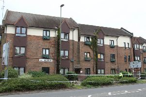 Police taped off flats in Park Way as they investigated the incident last year