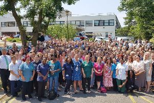 Celebrations for NHS70 at Western Sussex Hospitals NHS Foundation Trust. Pictured are staff from Worthing Hospital