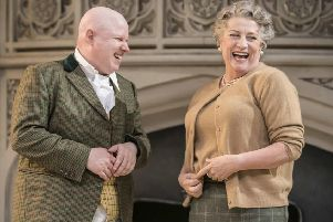 Matt Lucas and Caroline Quentin in Me and My Girl. Picture by Johan Persson.