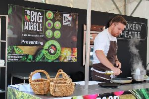 Chef Steven Edwards at last year's Big Nibble in Horsham. Picture by Toby Philips SUS-180820-142634001