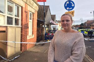 Danika Discombe heard the raid but did not realise what was happening.