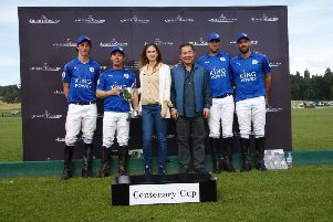 Vichai Srivaddhanaprabha with his King Power Foxes polo team at Cowdray Park / Picture by Clive Bennett