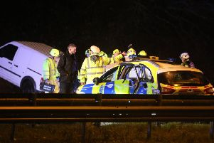 The A23 was closed for almost ten hours