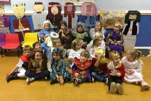 Children from Plaistow Pre-School getting ready to put on a show-stopping performance