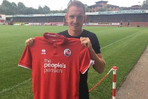 New Crawley Town signing Rob Milsom. Picture courtesy of Crawley Town SUS-180813-154218002