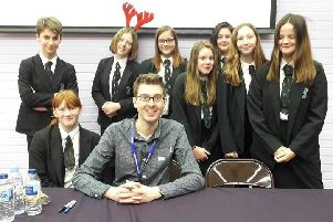 Durrington High School students attended a book signing and meet/greet with author Simon James Green