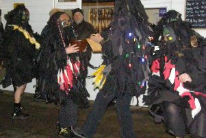 Mythago Morris dancing for the annual Steyning Wassail