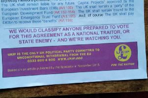 A copy of the leaflet that was delivered in Chichester
