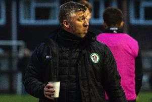 Burgess Hill Town head coach Simon Wormull. Picture by Chris Neal