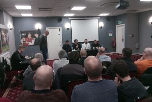 The panel at the fans forum