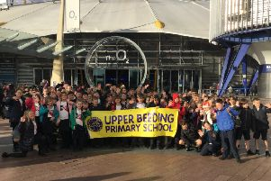 Pupils from Upper Beeding Primary School took part in the Young Voices concert at London's O2 Arena