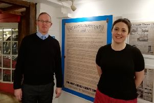 Jeremy Knight, curator and heritage officer at Horsham Museum and Rhiannon Jones, assistant curator
