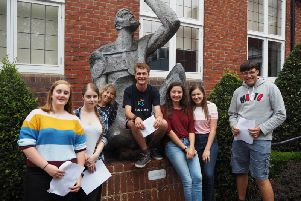 Collyer's students celebrate results success last year
