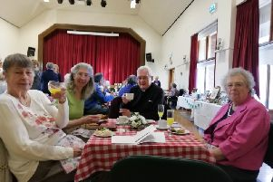 Wendy Cross, right, with other WI members and guests