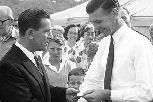 Norman Wisdom at the West Chiltington Show in 1959