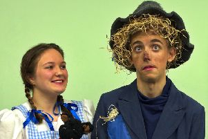Megan Jones as Dorothy and Kieran Broad as Scarecrow. Picture by Andrew Holloway