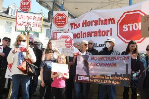 DM1841105a.jpg. Protest against plans for an incinerator in Horsham. Photo by Derek Martin Photography. SUS-180517-151722001
