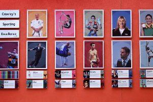Wall of Crawley's Sporting Excellence