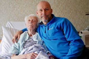 Mark Tyler from Upper Beeding with his mother Angela Tyler SUS-190326-145340001