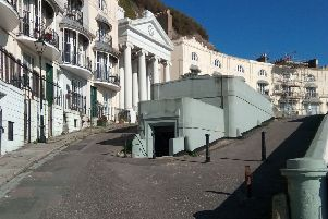 Sean Sweeney's body was found at the bottom of a set of steps in Pelham Crescent, Hastings